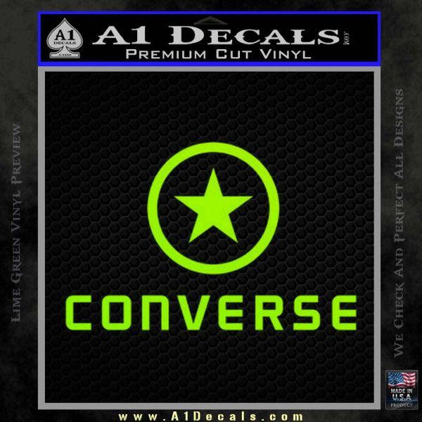 Converse Decal Sticker DF1 Lime Green Vinyl