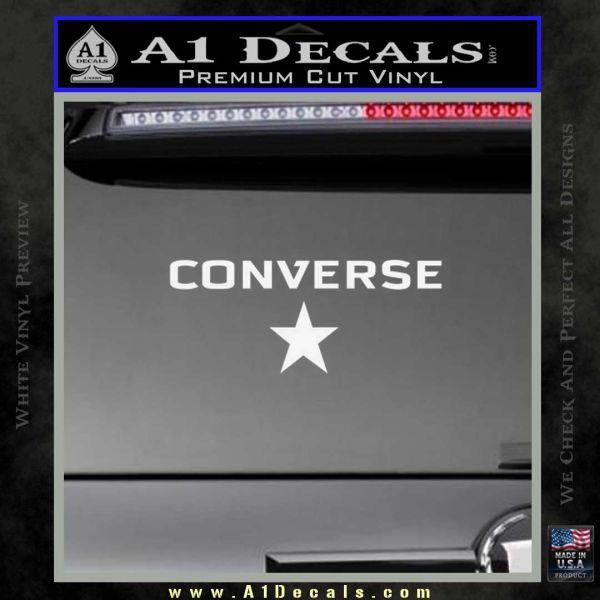 Converse Decal Sticker DW2 Gloss White Vinyl