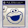 Cookie Monster Face Decal Sticker Blue Vinyl 120x120