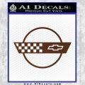 Corvette Decal Sticker Circle BROWN Vinyl 120x120