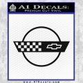 Corvette Decal Sticker Circle Black Vinyl 120x120