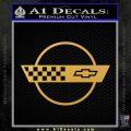 Corvette Decal Sticker Circle Gold Vinyl 120x120
