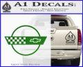 Corvette Decal Sticker Circle Green Vinyl Logo 120x97