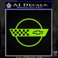 Corvette Decal Sticker Circle Lime Green Vinyl 120x120