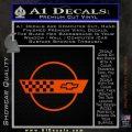Corvette Decal Sticker Circle Orange Emblem 120x120