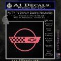 Corvette Decal Sticker Circle Pink Emblem 120x120