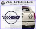 Corvette Decal Sticker Circle PurpleEmblem Logo 120x97