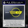 Corvette Decal Sticker Circle Yellow Laptop 120x120