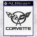 Corvette Flags Decal Sticker Black Vinyl 120x120