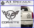 Corvette Flags Decal Sticker Carbon FIber Black Vinyl 120x97