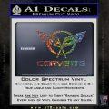 Corvette Flags Decal Sticker Glitter Sparkle 120x120