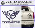Corvette Flags Decal Sticker PurpleEmblem Logo 120x97