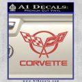 Corvette Flags Decal Sticker Red 120x120