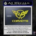 Corvette Flags Decal Sticker Yellow Laptop 120x120