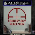 Country Boy Peace Sign Decal Sticker DRD Vinyl 120x120
