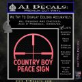 Country Boy Peace Sign Decal Sticker Pink Emblem 120x120