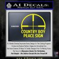 Country Boy Peace Sign Decal Sticker Yellow Laptop 120x120