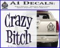 Crazy Bitch Decal Sticker PurpleEmblem Logo 120x97
