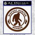 Crypto Zoologist Bigfoot Hunter Decal Sticker BROWN Vinyl 120x120