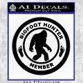 Crypto Zoologist Bigfoot Hunter Decal Sticker Black Vinyl 120x120