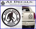 Crypto Zoologist Bigfoot Hunter Decal Sticker Carbon FIber Black Vinyl 120x97
