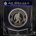 Crypto Zoologist Bigfoot Hunter Decal Sticker Carbon FIber Chrome Vinyl 120x120