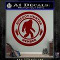 Crypto Zoologist Bigfoot Hunter Decal Sticker DRD Vinyl 120x120