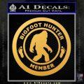 Crypto Zoologist Bigfoot Hunter Decal Sticker Gold Vinyl 120x120