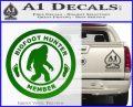 Crypto Zoologist Bigfoot Hunter Decal Sticker Green Vinyl Logo 120x97