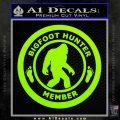 Crypto Zoologist Bigfoot Hunter Decal Sticker Lime Green Vinyl 120x120