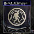 Crypto Zoologist Bigfoot Hunter Decal Sticker Metallic Silver Emblem 120x120