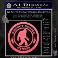 Crypto Zoologist Bigfoot Hunter Decal Sticker Pink Emblem 120x120