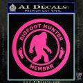 Crypto Zoologist Bigfoot Hunter Decal Sticker Pink Hot Vinyl 120x120