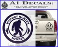 Crypto Zoologist Bigfoot Hunter Decal Sticker PurpleEmblem Logo 120x97