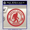 Crypto Zoologist Bigfoot Hunter Decal Sticker Red 120x120