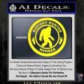 Crypto Zoologist Bigfoot Hunter Decal Sticker Yellow Laptop 120x120