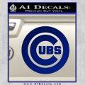 Cubs Decal Sticker Chicago Blue Vinyl 120x120