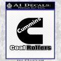 Cummins Coal Rollers Decal Sticker Black Vinyl 120x120