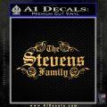 Custom Family Name Decal Sticker D1 Gold Vinyl 120x120