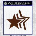 Custom Star Echo Decal Sticker BROWN Vinyl 120x120