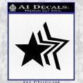 Custom Star Echo Decal Sticker Black Vinyl 120x120