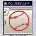 Customizable Baseball 3D Decal Sticker Red 120x120