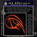 Customizable Basketball Blaze Decal Sticker Orange Emblem 120x120