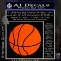 Customizable Basketball Decal Sticker D1 Orange Emblem 120x120