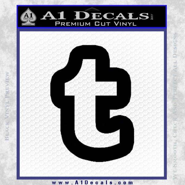 Customizable Tumblr T D1 Decal Sticker Black Vinyl