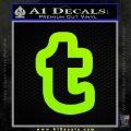 Customizable Tumblr T D1 Decal Sticker Lime Green Vinyl 120x120