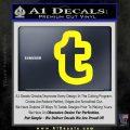 Customizable Tumblr T D1 Decal Sticker Yellow Laptop 120x120