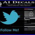 Customizable Twitter Follow Me Decal Sticker Light Blue Vinyl 120x120