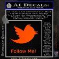 Customizable Twitter Follow Me Decal Sticker Orange Emblem 120x120