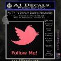 Customizable Twitter Follow Me Decal Sticker Pink Emblem 120x120